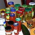 Przetwory na zimę (1) #jedzenie #gotowanie #kuchnia #słoiki #spiżarnia