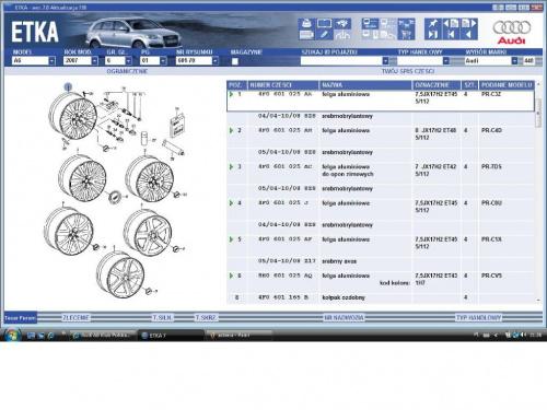 Audi A6 A7 Klub Polska A6 C6 Pełne Dane Dla Alu A6c6