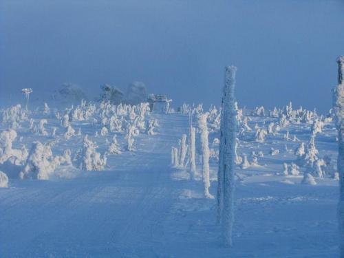 Widok na Końskie Łby ze Szrenicy #Karkonosze #góry #zima #śnieg #Szrenica #KońskieŁby