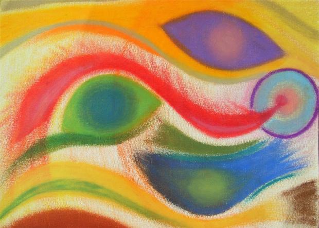 Anioł Oddech, uwolnienie od wzorców rozmiar 40x30cm płótno, pastele olejne do oprawy Obraz dostępny #anioły #obraz #sztuka #tworczosc #malarstwo #dziela #vedic