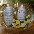 40 urodziny #bibuła #KsięgiOkolicznościowe #KwiatyZKrepiny #pamiątki #rękodzięło #zaproszenia