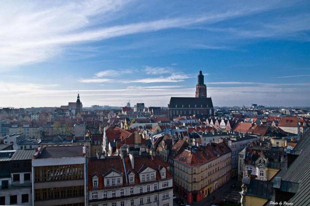 Widok na Wrocław z Wieży Matematycznej Gmachu Głównego UWr #krajobraz #wrocław #MiastoNieboChmury #nikon #passiv #airking