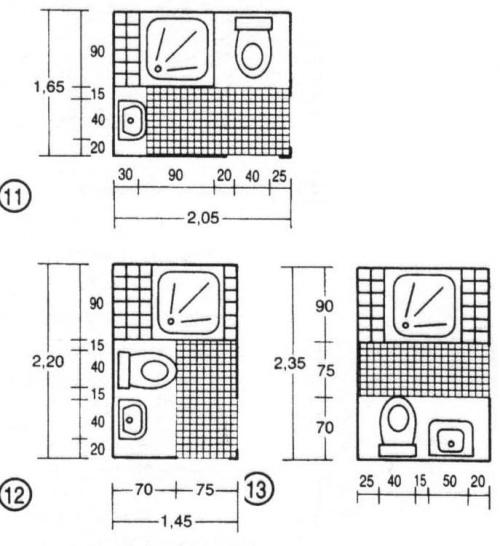 Baños Medidas Neufert:minimalne wymiary lazienki – Projektowanie wnętrz – forummuratordom