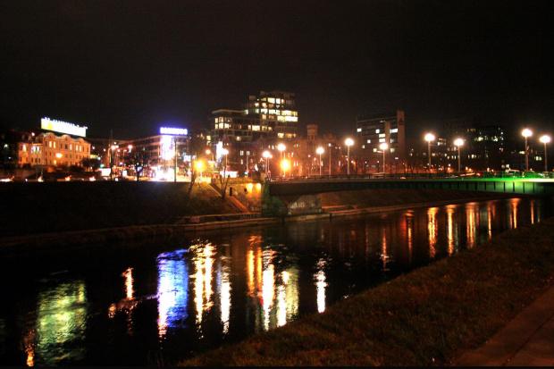 Wilia i fragment Zielonego mostu. #Wilno