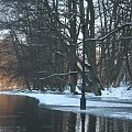 Rzeka Brda - 25.02.2011 - zdjęcie z samotnego spływu kajakowego. #Brda #rozlewisko #lód