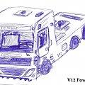 Moja pierwsza ciężarówka. V12 PowerTruck. #powertruck #projekt #ciężarówka #v12 #skan