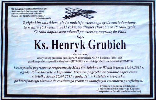 Ks. Henryk Grubich