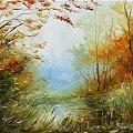 #obraz #obrazy #garncarek #aleksander #wiosna #lato #jesień #zima #malarstwo