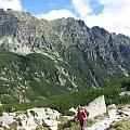 Przełęcz Krzyżne w tle #Góry #Tatry #KoziWierch #CzarneŚciany #ZadnyGranat