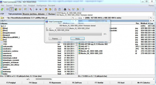 Problemy z wysyłanie wszystkich rodzajów plików na hosting http://www.leszekkabacinskikabat.3-2-1.pl dpmena http://www.leszekkabacinskikabat.com na www. ósemka .pl