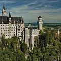 Neuschwanstein .Zamek króla Ludwiga II #Alpy #Neuschwanstein #Panorama #Zamek